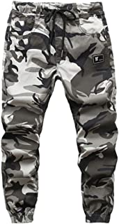 Lau's Pantalones Camuflaje niño Cintura Elastica - Pantalón Jogger niño - Pantalon de Cargo para niños