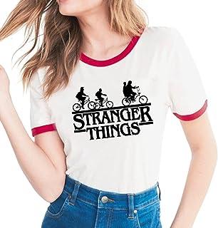Xsayjia Stranger Things Stagione 2 Estate Manica Corta Maglietta T-Shirt Camicie Bluse