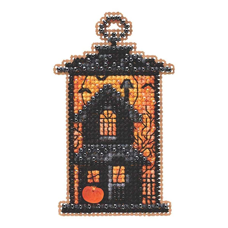 Moonstruck Manor Beaded Counted Cross Stitch Ornament Kit Mill Hill 2019 Autumn Harvest MH181923
