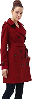 Women's Alexa Waterproof Classic Hooded Long Trench Coat