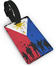 Philippines Flag Soldiers Veterans Luggage Tag & Bag Tags Travel Suitcases Bag Tags For Men Women Baby Strollers Luggage Bag