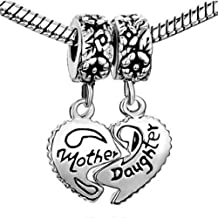 Buckets of Beads Mother Daughter Dangle Charm Bead Fits Most Major Womens And Girls Charm Bracelets