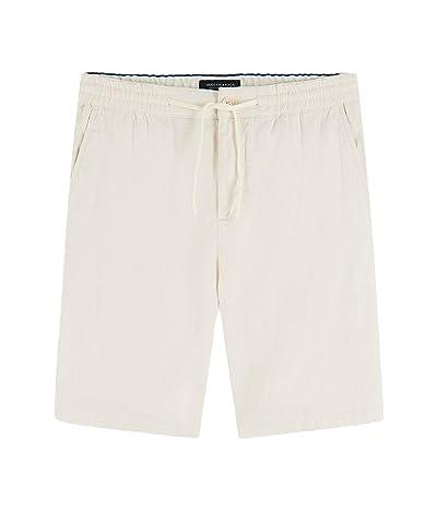 Scotch & Soda Mid-Length Chic Beach Shorts (Off-White) Men