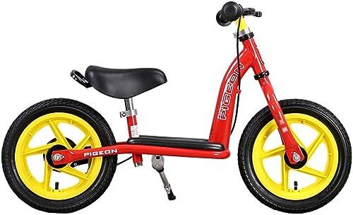 Vélo   avec Frein Manuel, siège rembourré avec Guidon réglable pour Enfants de 2, 3, 4, 5, 6 Ans - Pneumatique ZHAOFENGMING (Couleur   rouge, Taille   As Shown)