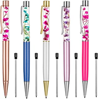 Ballpoint Pens,5PCS Metal Ball Pens Office Supplies,Rose Red/Blue/Purple/White/Rose Gold..