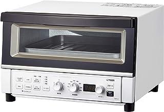 TIGER 虎牌 魔法瓶 烤箱烤箱 温度调节功能 30分钟定时器 煎加热 吐司3片 1300W 淡白色 KAT-A130