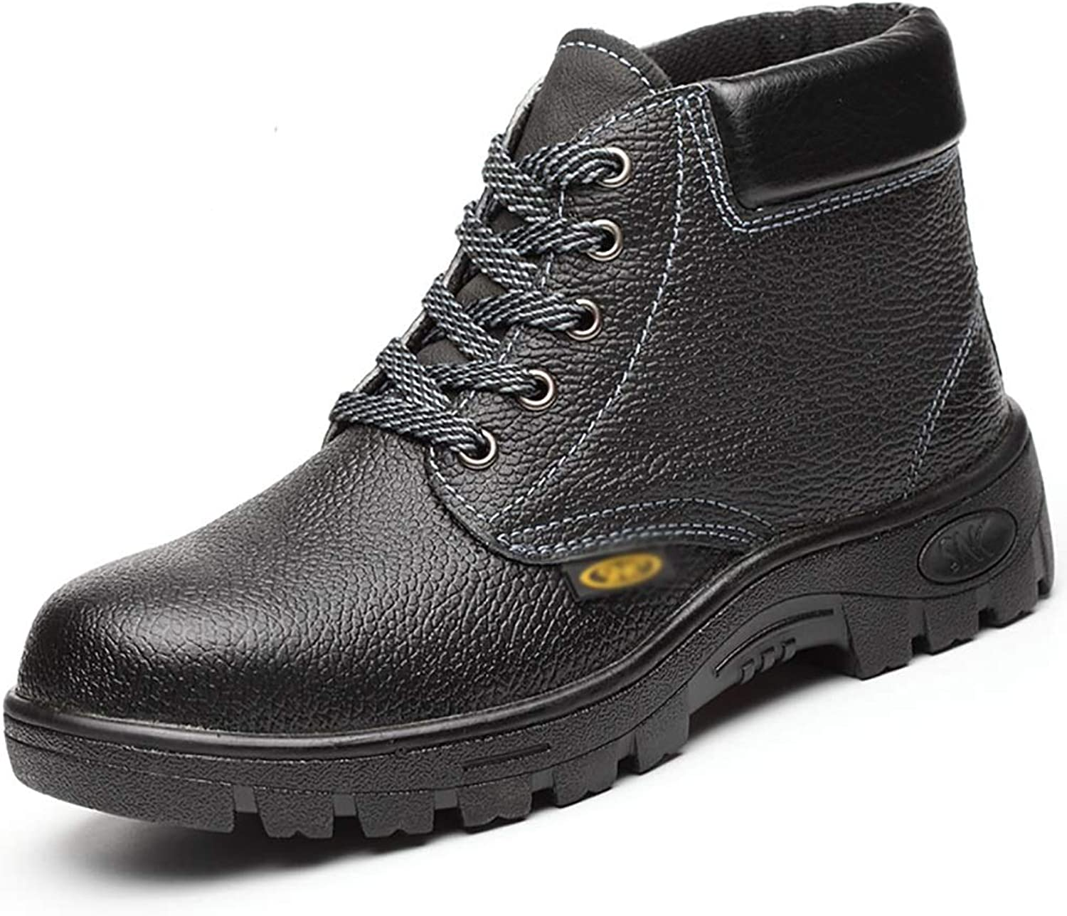 ZYFXZ safety shoes Winter men's high-top shoes, breathable anti-piercing welder safety work boots, steel toe cap base boots work boots (Size   37)