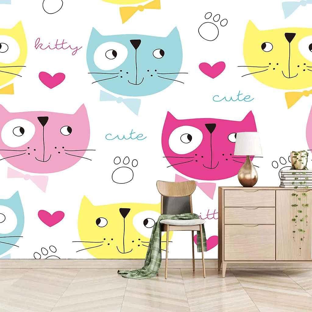 VITICP 3D Wallpaper Murals Cartoon Photo Max 71% Ultra-Cheap Deals OFF Wall cat Animal