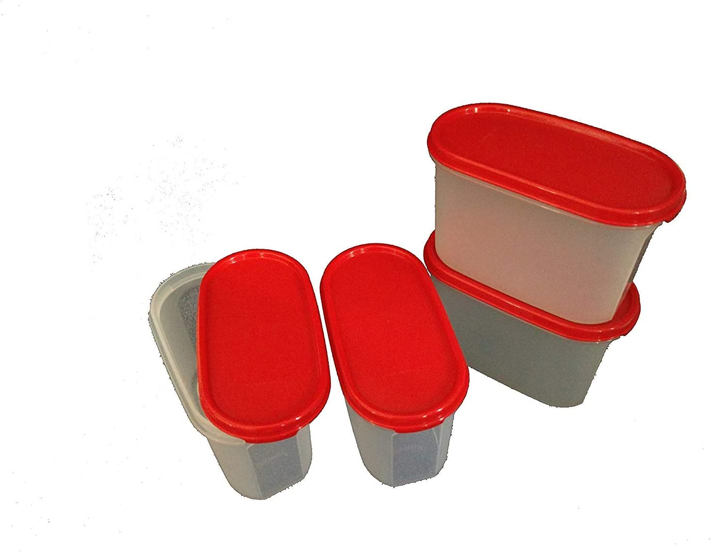 Tupin Deluxe Tupperware Modular Mate Oval 1.1 Container Li Set Plastic discount
