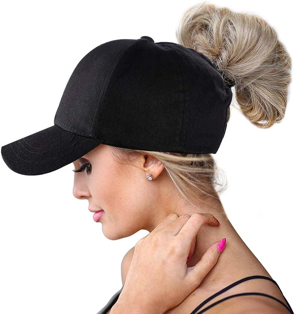 TEedhkf3 Style Messy Bun Ponytail Cap Tyson-Foods-Inc.Round-Logo Mesh Womens Hat
