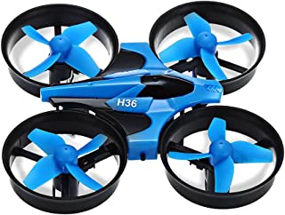 Z-Fire H36 Mini Rc Quadcopter with Headless Mode / Speed Switch 2.4ghz 4ch 6 Axis Gyro, Mini-Drone Pocket Drone Remote Control Helicopter Quad Copters Toy (Blue)