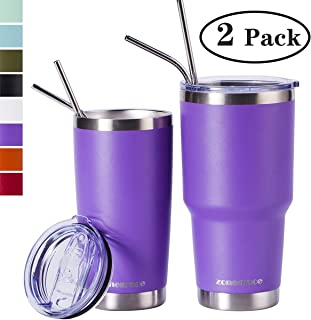 Zonegrace Purple 20oz and 30oz Insulated Tumblers with Lid & Gift Box | Stainless Steel Coffee Cup | Double Wall Vacuum Insulated Travel Coffee Mug with Splash Proof slid lid