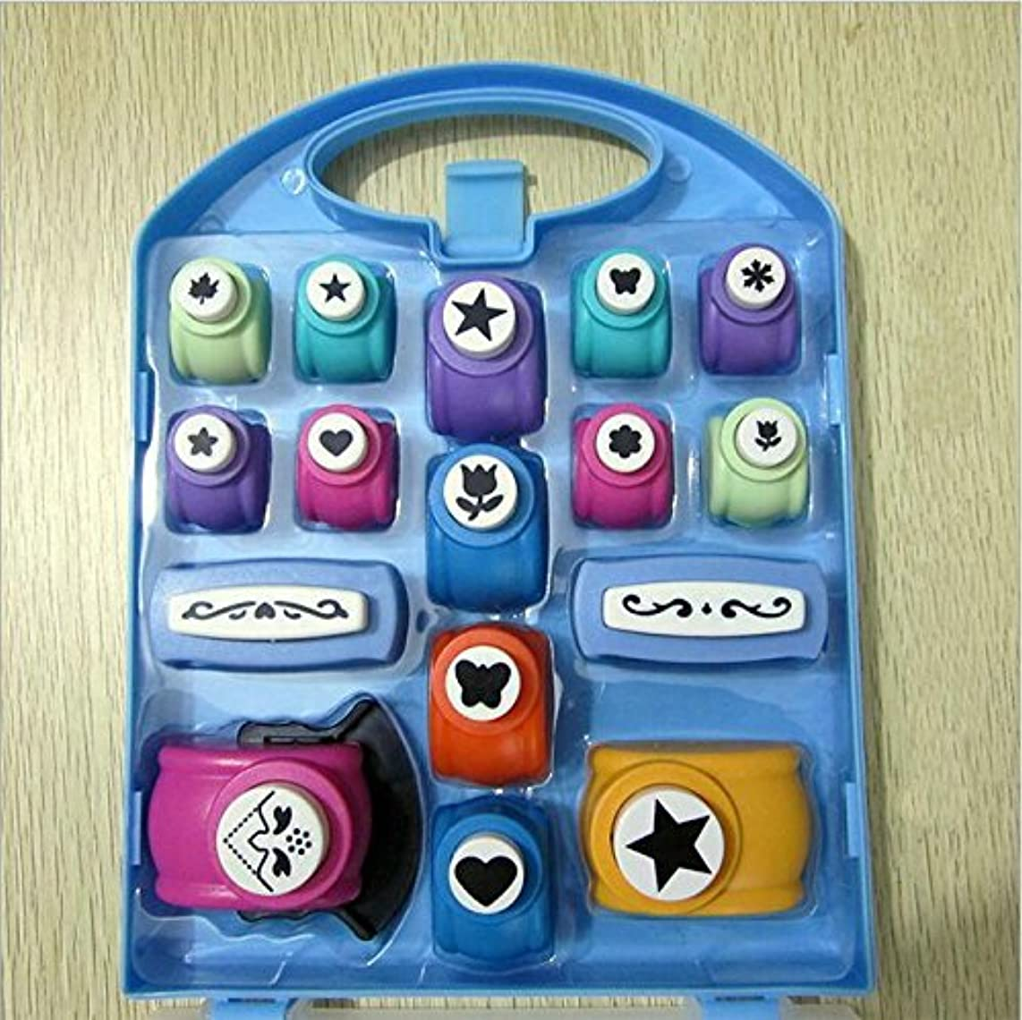 Since Set of 16 Paper Punch,Scrapbooking Punches ,Cute Multi-pattern Hand Press Shapes,Kid Cut DIY Handmade Hole Puncher for Festival Papers and Greeting Card