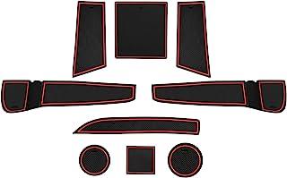 CDEFG für Seat Ibiza/Arona Auto Innere Türschlitz rutschfest Anti Staub Becherhalter Matte Arm Box Aufbewahrung Pads