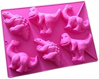 Blau ToDIDAF K/üche Silikonform 3D DIY Craft Backen Dinosaurier Silikon Fondantform 6 Hohlr/äume Passend f/ür Schokolade S/ü/ßigkeiten Kuchen Kekse Mousse Gelee 28 x 16,2 x 2,5 cm