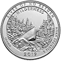2019 P, D Frank Church River of No Return Wilderness, ID National Park Quarter Singles - 2 Coin Set Uncirculated