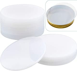 20 Pieces Reusable Silicone Jar Sealing Lid Inserts Leak Proof Silicone Sealing Lids Rubber Disc Gasket Lids for Canning S...