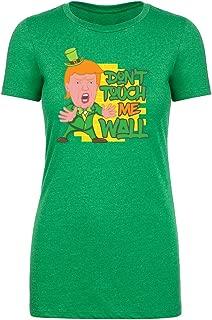 Funny Trump T-Shirts, St Patrick's Day Donald Trump Leprechaun Shirt - Wall