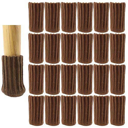 24Pcs Calcetines para Patas de Silla, Elásticos Protectores de Patas de Madera Gruesa, Muebles Tapa de Cubre-Antideslizante & Antiarañazos