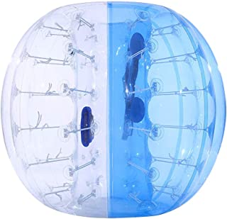 ThinkMax Bubble Bumper Soccer Ball for Kids and Adults, 5FT/1.5M 4FT/1.2M Giant Inflatable Human Hamster Zorb Ball
