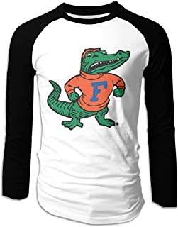Eyscar Men's Logo of Retro Florida Cotton Baseball Raglan Long T-Shirts