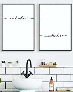 ARTIVATION: INHALE EXHALE Living Room Decor, Bathroom Wall Art, Bedroom Wall Decor, Bathroom Decor, Inspirational Posters, Bathroom Wall Art, House Decor, Pictures for Bathrooms, Restroom Decor