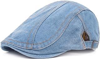 Vintage Casual Flat Peaked Hat Beret Cap Adjustable Newsboy Beret For Men Women Accessories (Color : Light blue)