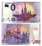 0 Euro Schein  Bamberger Dom  2018 - Null Euro Souvenier Banknote mit verschiedenen Sehenswürdigkeiten -