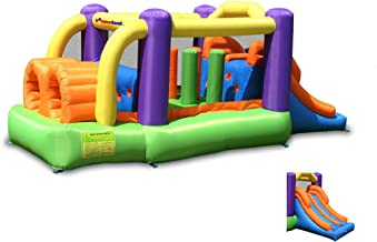 Bounceland Bounce House Inflatable Bouncer Obstacle Pro-Racer Combo Slides
