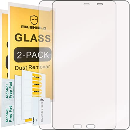 [2-Pack]-Mr.Shield for Samsung Galaxy Tab A 10.1 Inch (2016) [Tempered Glass] Screen Protector [0.3mm Ultra Thin 9H Hardness 2.5D Round Edge] with Lifetime Replacement Warranty