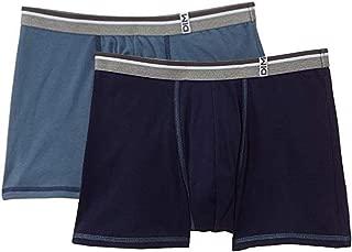 Men's Boxer Cotton Long Life (Grey Blue/Night Blue) Set of 2
