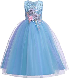 Surprise S Kids Party Dress Embroidery Flower Girl Weddings Lace Pageant Princess Ball Gown Teenagers Children