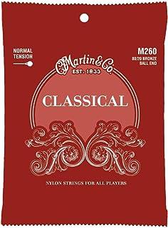 Martin Guitar Classical M260, Nylon Normal Tension 80/20 Bronze Ball End Acoustic Guitar Strings