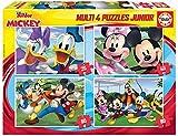 Educa Borrás-Multi 4 Puzzles Junior de 20, 40, 60 y 80 piezas, Mickey y sus amigos, a partir de los 5 años (18627) , color/modelo surtido