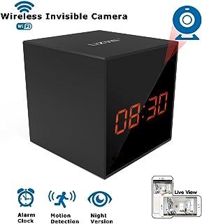 LIZVIE HD Wireless Spy Clock Camera- Auto Night Vision Camera,Motion Detection Invisible Cam,Home Security Monitor Alarm C...