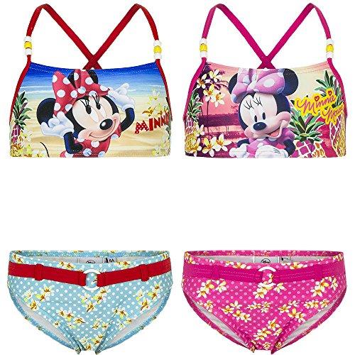 Disney Costume Mare Piscina 2 Pezzi Bikini Minnie Da 3 A 8 Anni - Taglia 8 Anni Colore Celeste