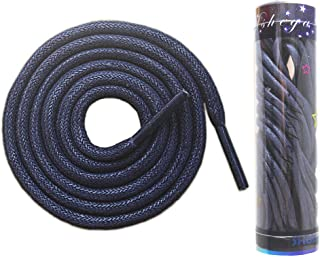 Mshega Premium Round Waxed Dress Shoe Laces Oxford Shoelaces 2 Pair in a Tube