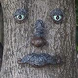 Nother Escultura de árbol de hombre viejo, para jardín al aire libre, mirador caprichoso, cara de árbol, comedero de pájaros salvajes, decoración de jardín (2#)