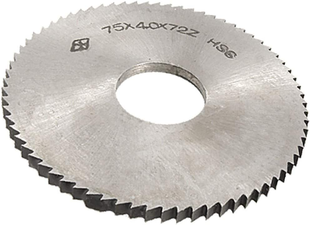 X-DREE 7.5cm OD 4mm Thickness 2.2cm HSS 72T Dia. Hole S Cheap mail order sales Slitting Industry No. 1