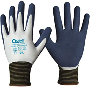 QQEARSAFETY Waterproof Gardening Gloves for Women and Men, Thorn Proof, 1 Pair (X-Large/10