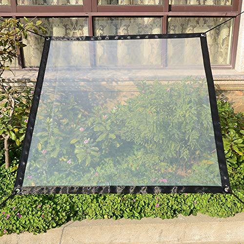 RASHION Clear Waterproof Cover Tarp - 2x3m/6.56 * 9.8ft PVC Transparent...