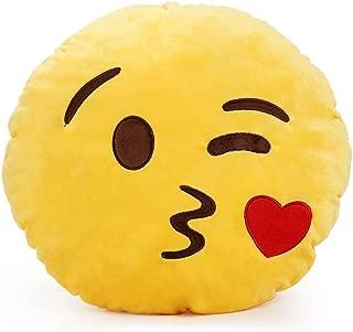YINGGG Cute Emoji Plush Pillow Round Cushion Toy Gift for Friends/Children