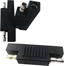 LINGYU SAE Polarity Reverse Adapter,SAE to SAE Connector,(3 Pack for Quick Disconnect Wire Harness SAE Connector and Maintainer-Black