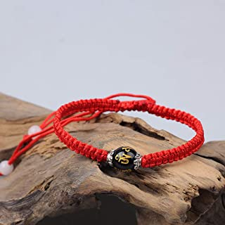 SimpleLife Lucky Red Black String Kabbalah Cuerda Bracele con Broche Magn/ético Pulseras Unisex