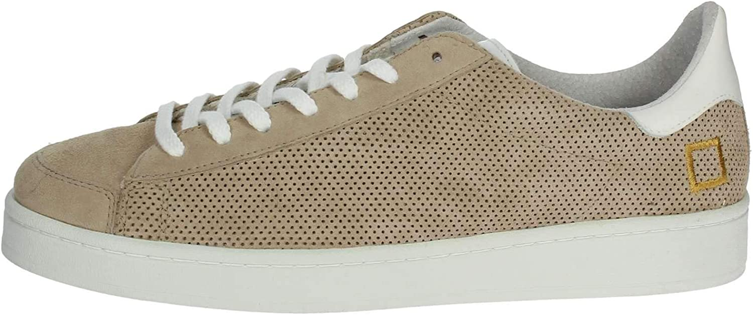 D.a.t.e. Turnschuhe Twist Perforated in Wildleder Beige Gelocht