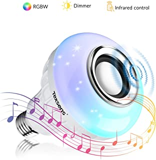 Texsens Lamp Smart Bulb Speaker with Updated Remote Control-Light Flashing as Music Goes