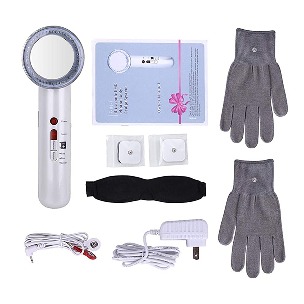 服を片付ける受粉する小包美容機器EMSボディスリミングマッサージャー7 1 RF超音波キャビテーション無線周波数アンチセルライトマッサージファットバーナー