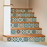 72 (Piezas) Adhesivo para Azulejos 10x10 cm - PS00098 - Safi - Adhesivo Decorativo para Azulejos para baño y Cocina - Stickers Azulejos - Collage de Azulejos