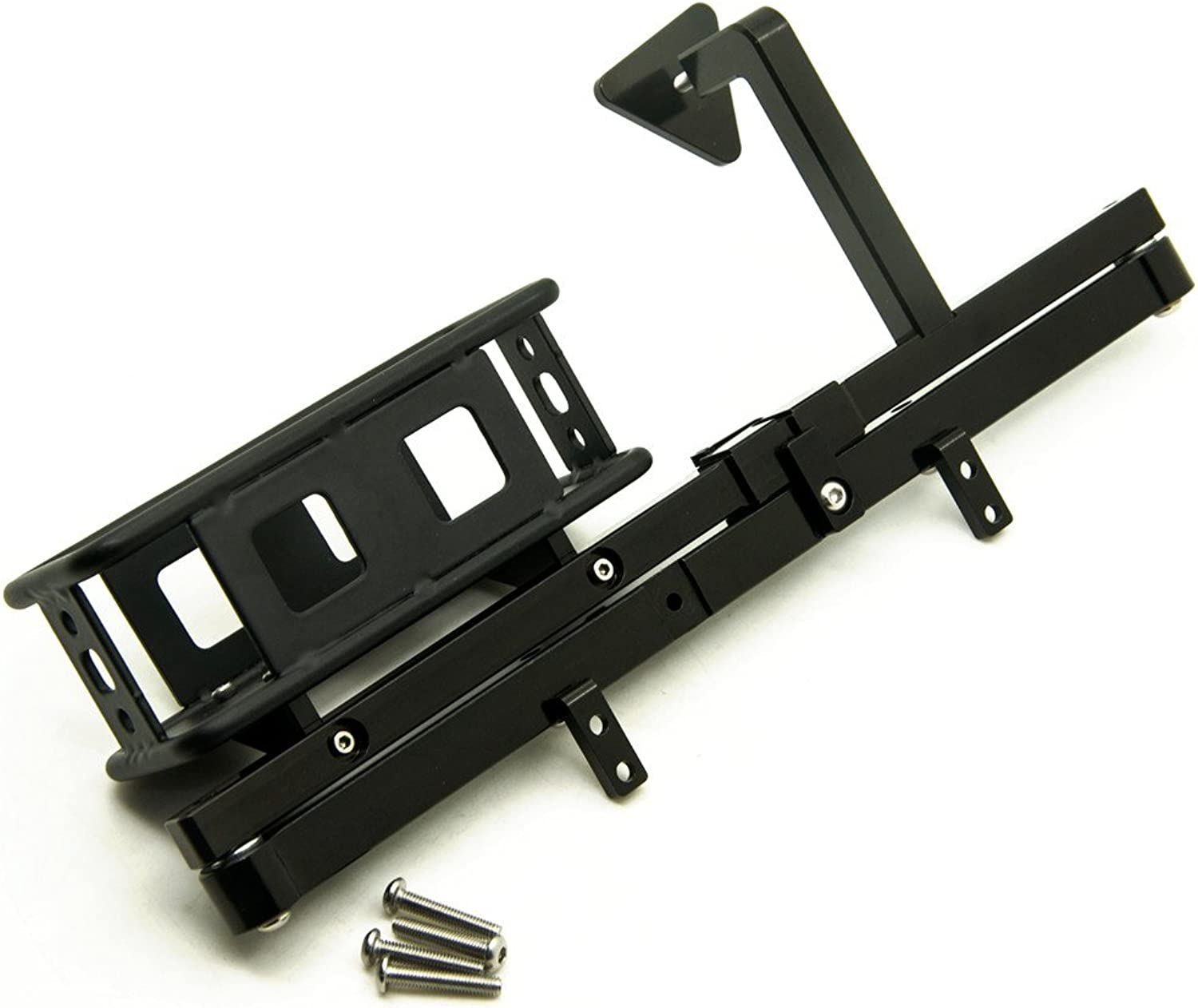 KingModelCA Metal Rear Bumper with Spare Tire Rack for D90 RC Model Car
