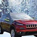 Big Ant Snow Cover, Magnetic Windshield Cover for Snow and Ice Protector Reflective Warning Bar on Mirror Covers - Ice Frost and Wind Proof Car Cover in All Weather, Fit for Most Vehicle